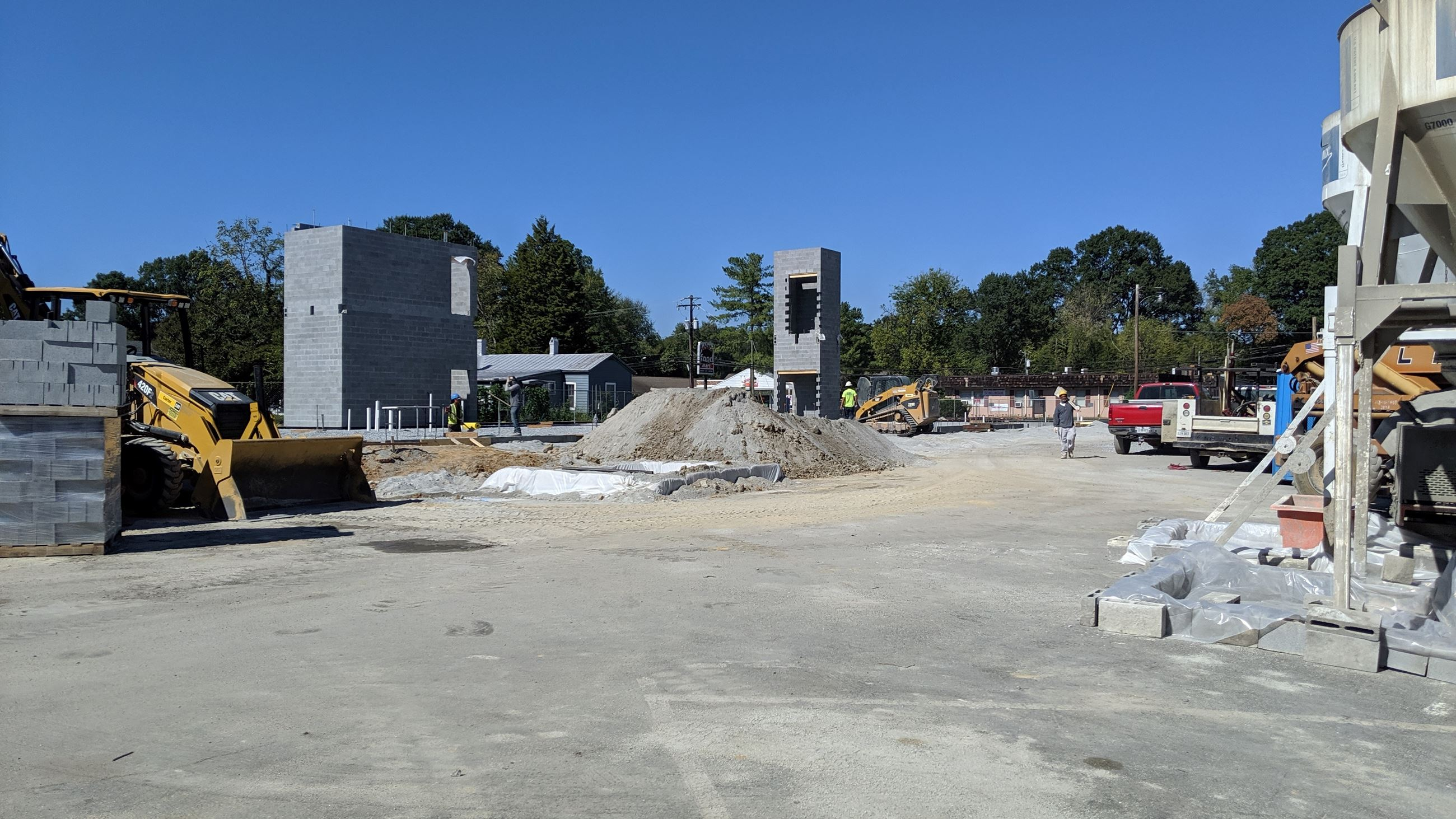 new town hall construction site