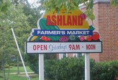 Ashland Farmers Market Sign